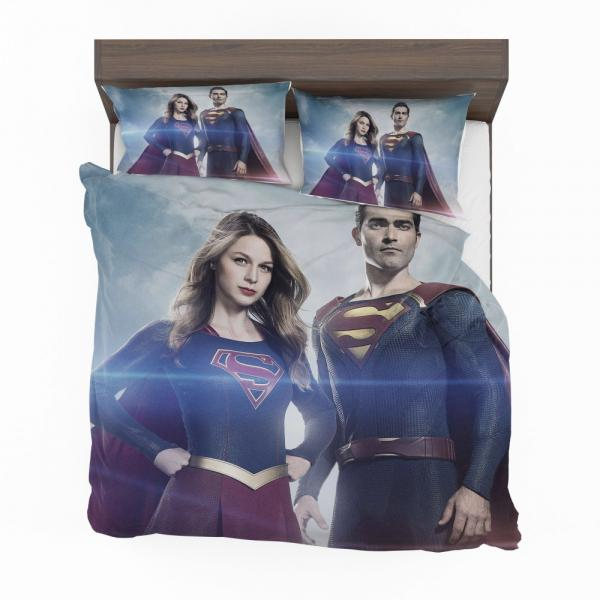 Supergirl and Superman TV Show Melissa Benoist Tyler Hoechlin Bedding Set