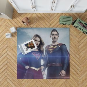 Supergirl and Superman TV Show Melissa Benoist Tyler Hoechlin Bedroom Living Room Floor Carpet Rug