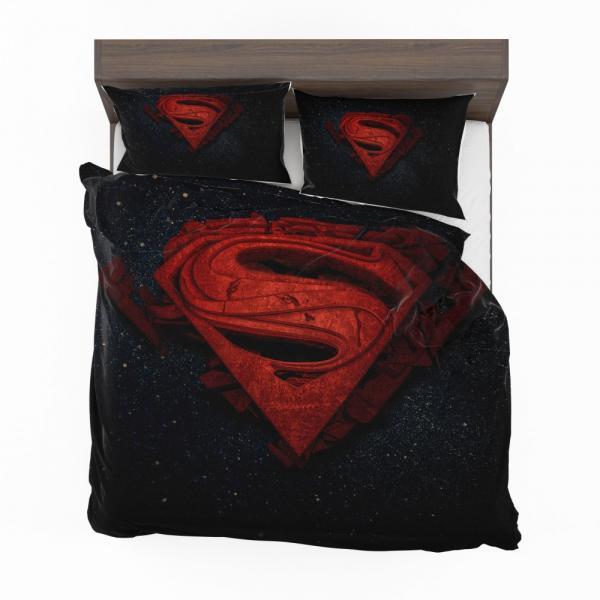 Superman Batman DC Comics 3D Logo Bedding Set