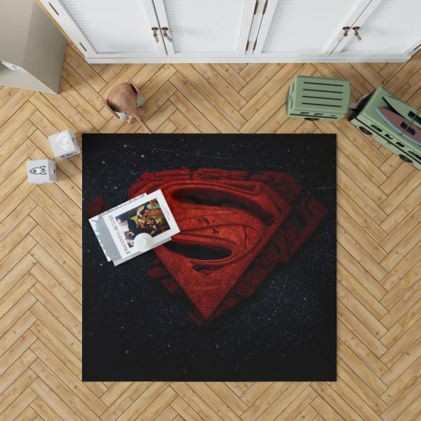 Superman Batman DC Comics 3D Logo Bedroom Living Room Floor Carpet Rug