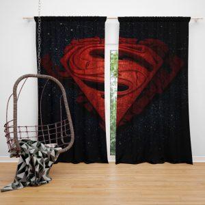 Superman Batman DC Comics 3D Logo Bedroom Window Curtain