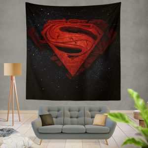 Superman Batman DC Comics 3D Logo Wall Hanging Tapestry