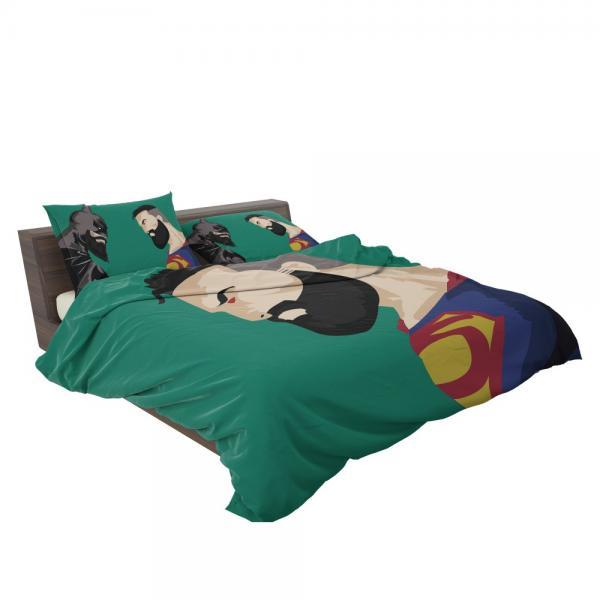 Superman Beard DC Comics Justice League Bedding Set