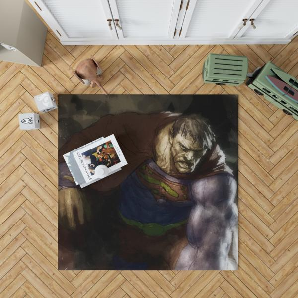 Superman Bizarro DC Universe Bedroom Living Room Floor Carpet Rug