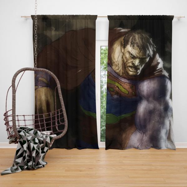 Superman Bizarro DC Universe Bedroom Window Curtain