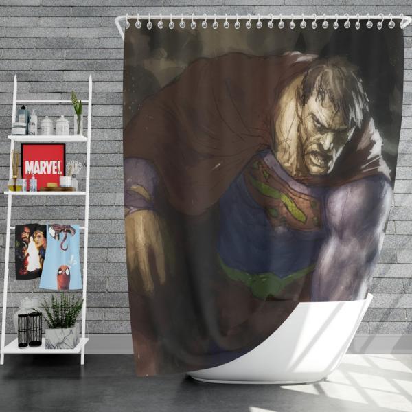Superman Bizarro DC Universe Shower Curtain