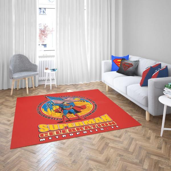 Superman Celebration Metropolis Illinois Bedroom Living Room Floor Carpet Rug