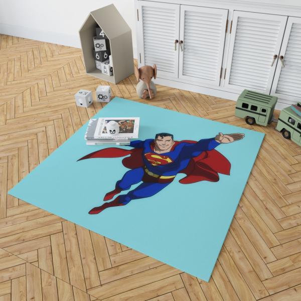 Superman DC Comics Justice League Bedroom Living Room Floor Carpet Rug
