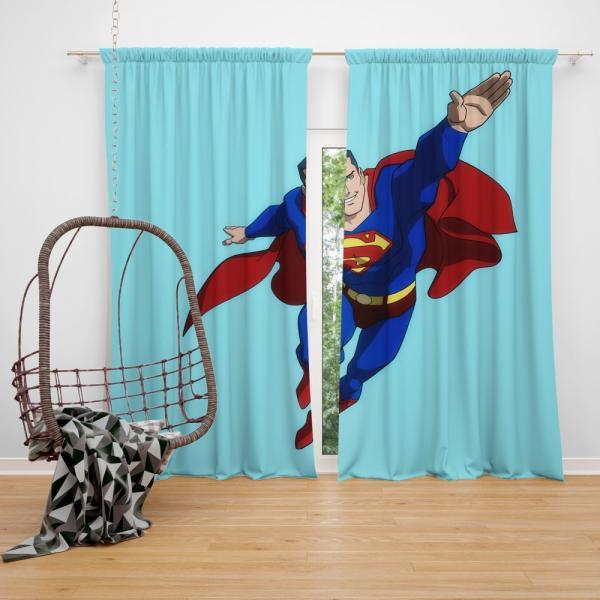 Superman DC Comics Justice League Bedroom Window Curtain