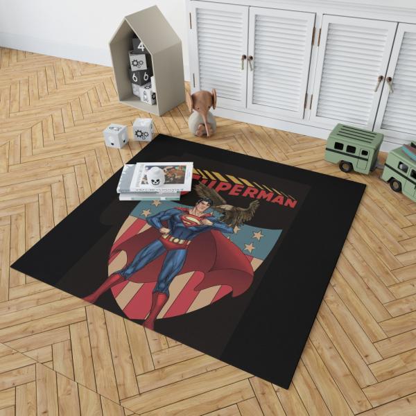 Superman DC Comics Legion of Super-Heroes Bedroom Living Room Floor Carpet Rug