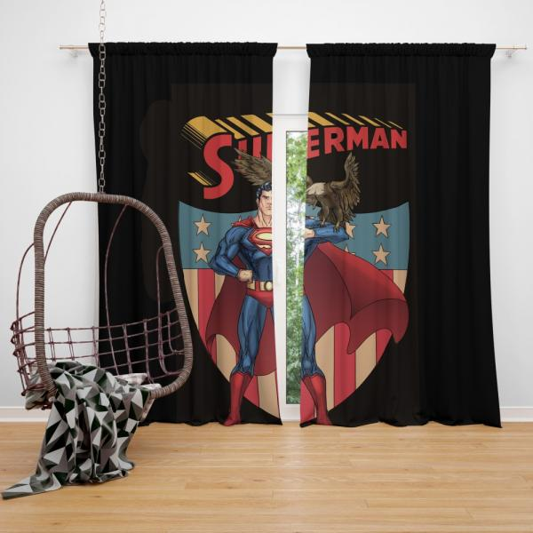 Superman DC Comics Legion of Super-Heroes Bedroom Window Curtain
