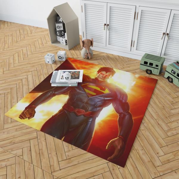 Superman DC Comics Man Of Steel Super Hero Bedroom Living Room Floor Carpet Rug