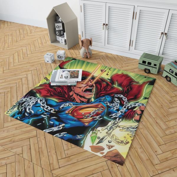 Superman DC Comics Super Hero Man Of Steel Bedroom Living Room Floor Carpet Rug