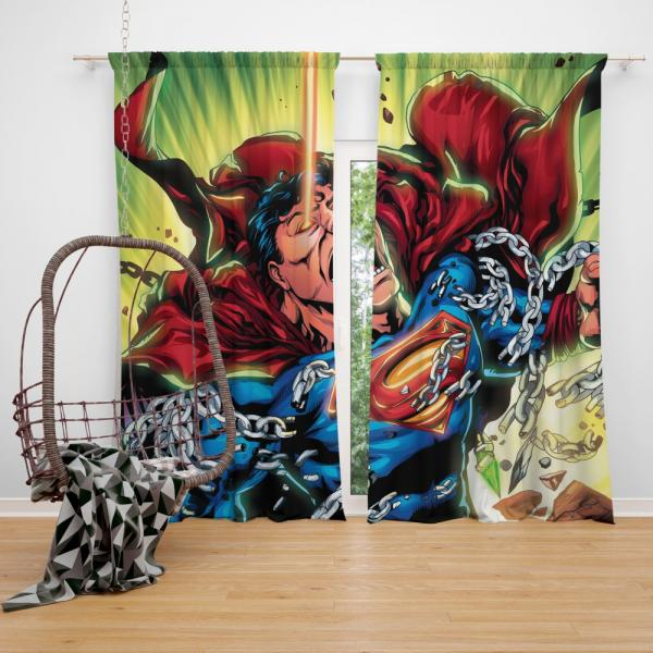 Superman DC Comics Super Hero Man Of Steel Bedroom Window Curtain
