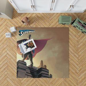 Superman DC Universe Legion of Super-Heroes Bedroom Living Room Floor Carpet Rug