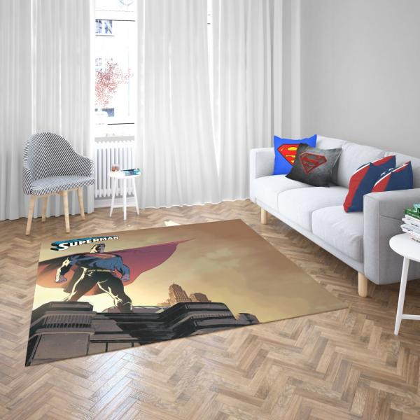 Superman DC Universe Legion of Super-Heroes Bedroom Living Room Floor Carpet Rug