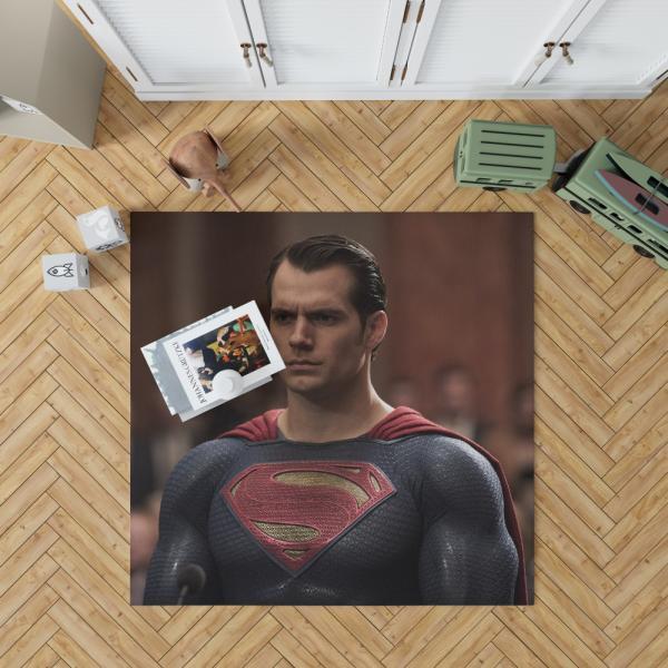 Superman Henry Cavill in Batman v Superman Dawn of Justice Movie Bedroom Living Room Floor Carpet Rug