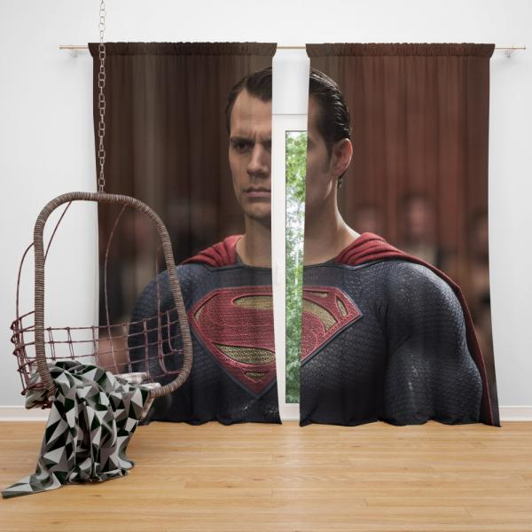 Superman Henry Cavill in Batman v Superman Dawn of Justice Movie Bedroom Window Curtain
