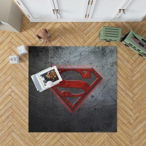 Superman Logo DC Comics Bedroom Living Room Floor Carpet Rug