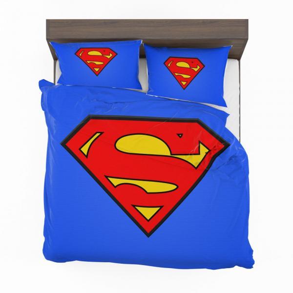 Superman Logo DC Comics Justice League Bedding Set