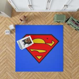 Superman Logo DC Comics Justice League Bedroom Living Room Floor Carpet Rug