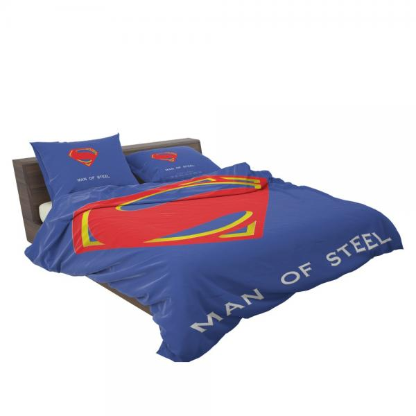 Superman Logo in Man Of Steel Movie Bedding Set