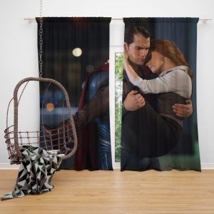 Superman & Lois Lane in Batman v Superman Dawn of Justice Movie Bedroom Window Curtain