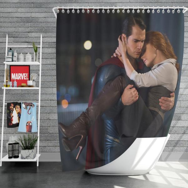 Superman & Lois Lane in Batman v Superman Dawn of Justice Movie Shower Curtain
