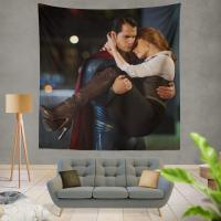 Superman & Lois Lane in Batman v Superman Dawn of Justice Movie Wall Hanging Tapestry