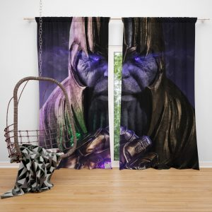 Thanos Avengers Infinity War Thanos Wins Bedroom Window Curtain