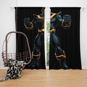 Thanos Fictional Super Villain Marvel Comics Bedroom Window Curtain