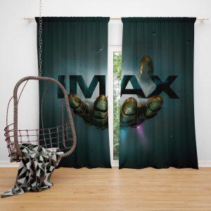 Thanos Infinity Gauntlet Imax Avengers Infinity War Movie Bedroom Window Curtain