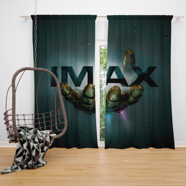 Thanos Infinity Gauntlet Imax Avengers Infinity War Movie Bedroom Window Curtain