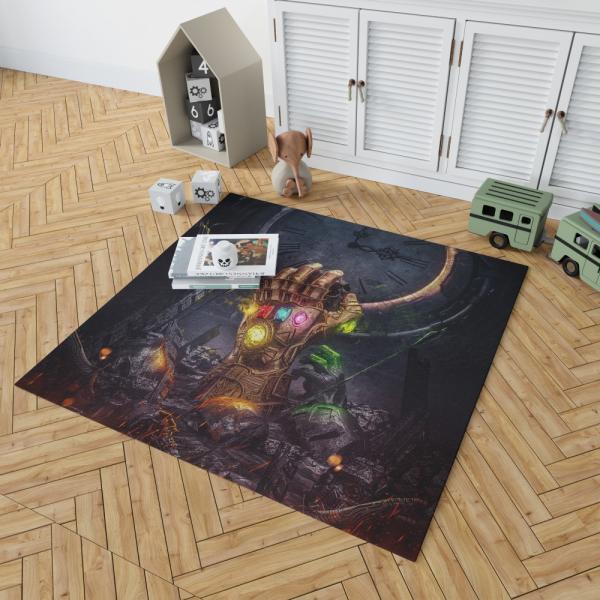 Thanos Infinity Gauntlet & Infinity Stones Bedroom Living Room Floor Carpet Rug