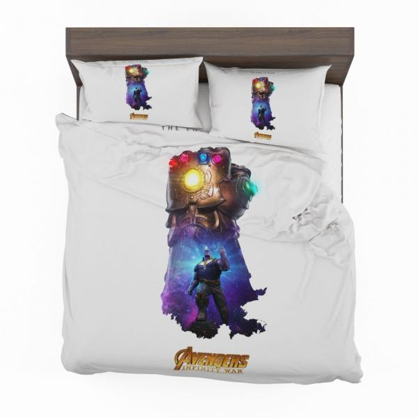 Thanos Infinity Gauntlet Marvel Avengers Infinity War Bedding Set