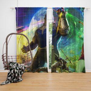 Thanos Josh Brolin in Marvel Avengers Infinity War Movie Bedroom Window Curtain