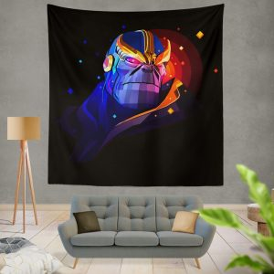 Thanos Returns Artwork Marvel Cinematic Universe Wall Hanging Tapestry