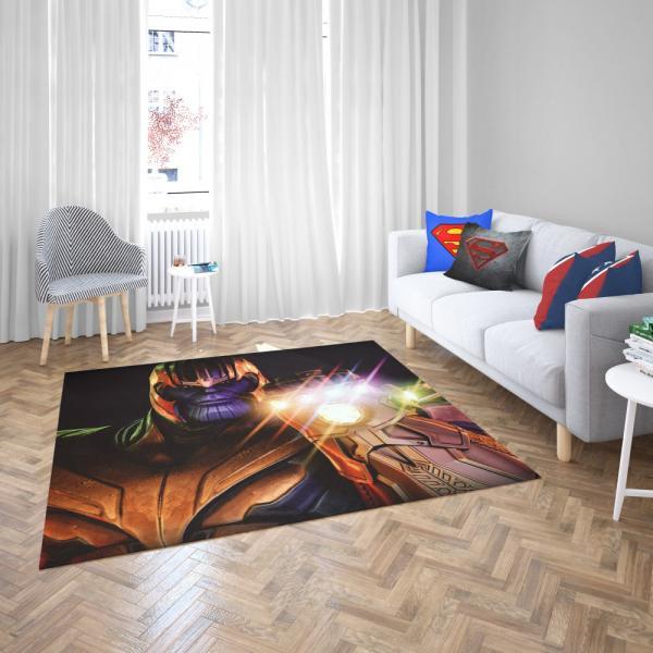 Thanos in Fortnite Video Game Marvel Cinematic Universe Bedroom Living Room Floor Carpet Rug