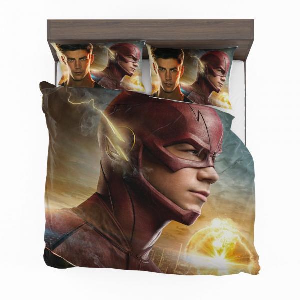The Flash 2014 TV Show Grant Gustin Barry Allen Bedding Set