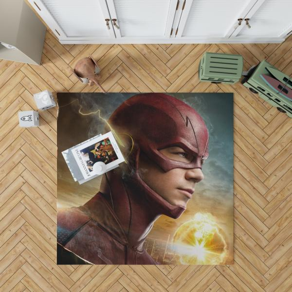 The Flash 2014 TV Show Grant Gustin Barry Allen Bedroom Living Room Floor Carpet Rug