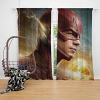 The Flash 2014 TV Show Grant Gustin Barry Allen Bedroom Window Curtain