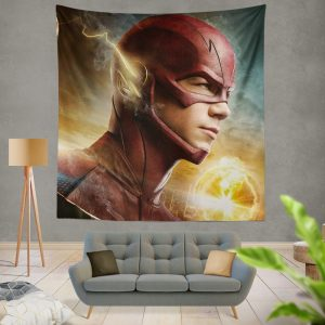 The Flash 2014 TV Show Grant Gustin Barry Allen Wall Hanging Tapestry