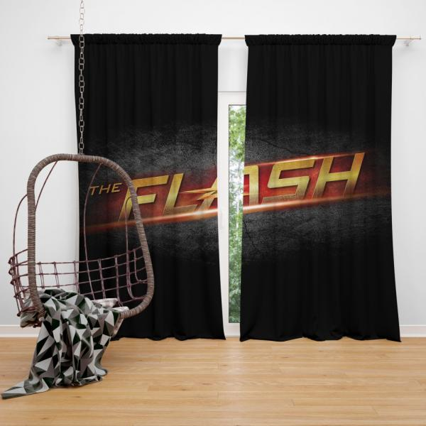 The Flash DC Comics Logo Bedroom Window Curtain