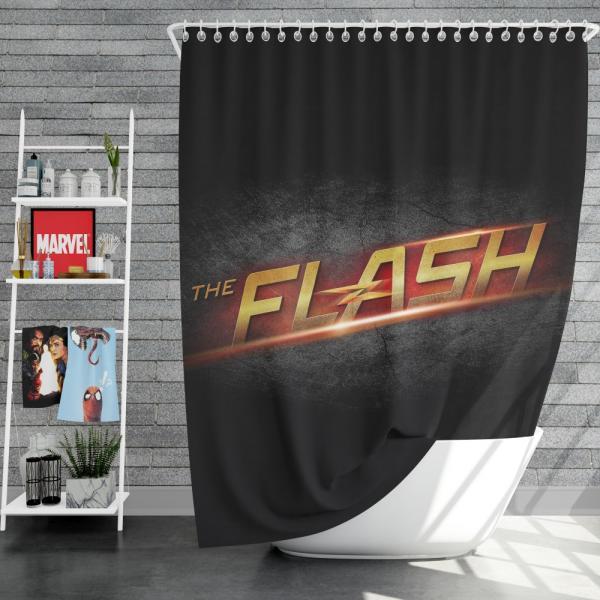 The Flash DC Comics Logo Shower Curtain