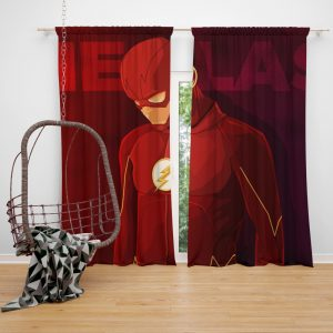 The Flash DC Multiverse Comics Bedroom Window Curtain