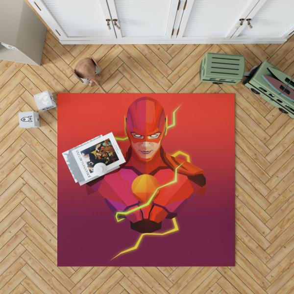 The Flash DC Universe Artwork Bedroom Living Room Floor Carpet Rug
