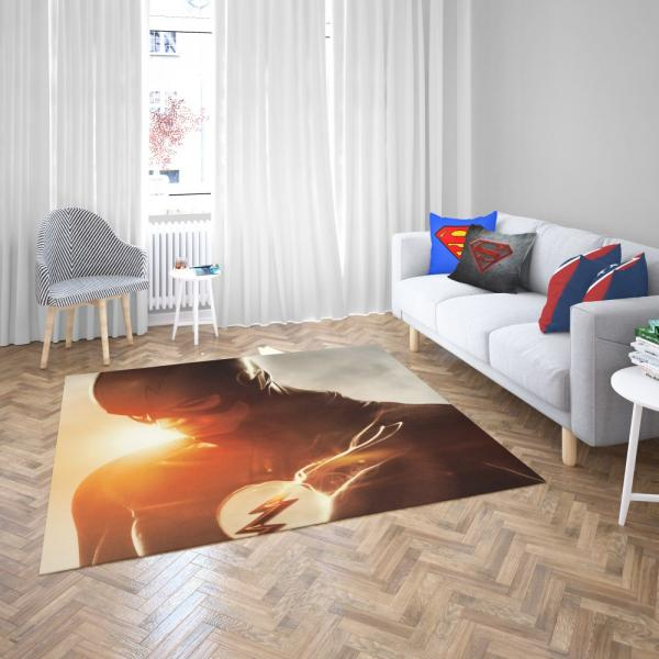 The Flash Grant Gustin DC Justice League Bedroom Living Room Floor Carpet Rug