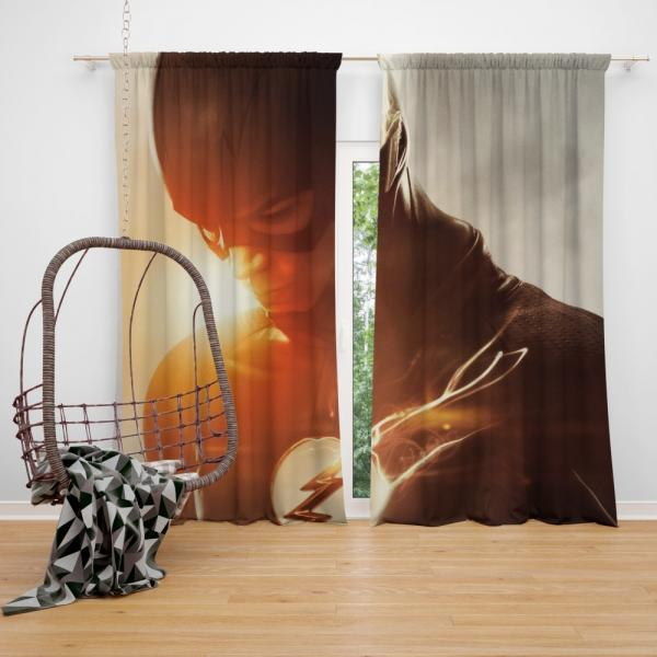 The Flash Grant Gustin DC Justice League Bedroom Window Curtain
