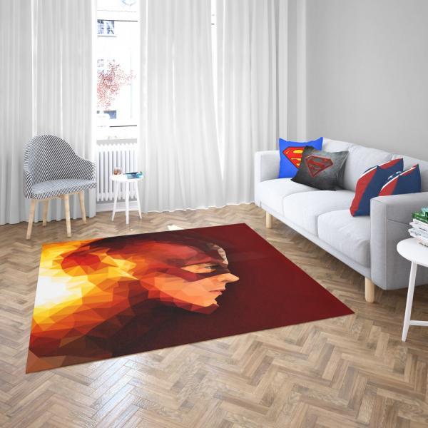 The Flash Metahuman DC Rebirth Bedroom Living Room Floor Carpet Rug