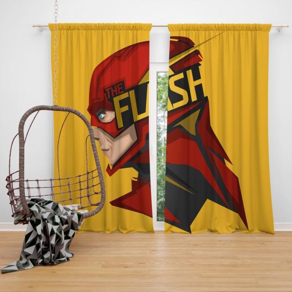 The Flash Rebirth Superhero DC Bedroom Window Curtain
